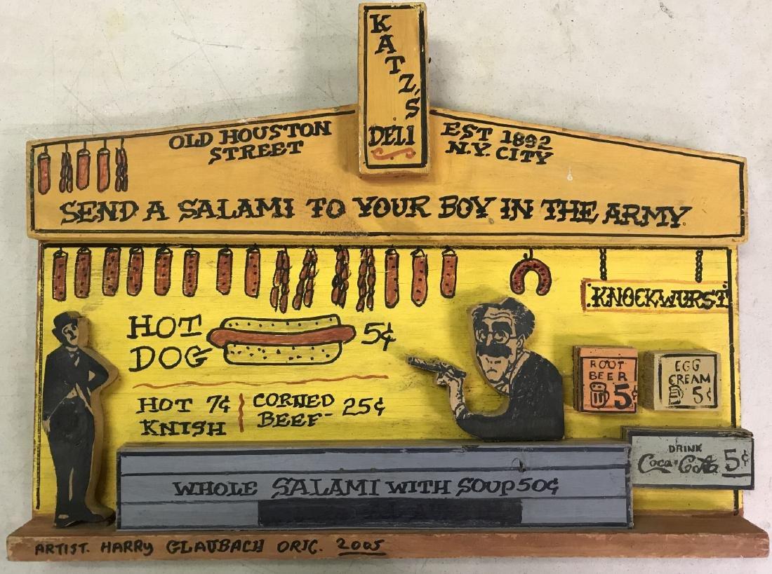 "Harry Glaubach, ""Katz's Deli"" Wood Assemblage"