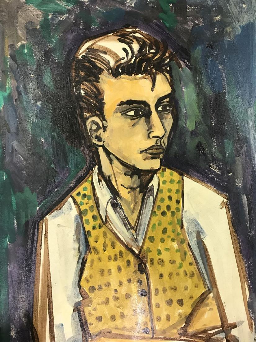 Len Nezin, Signed Oil on Board Painting - 2