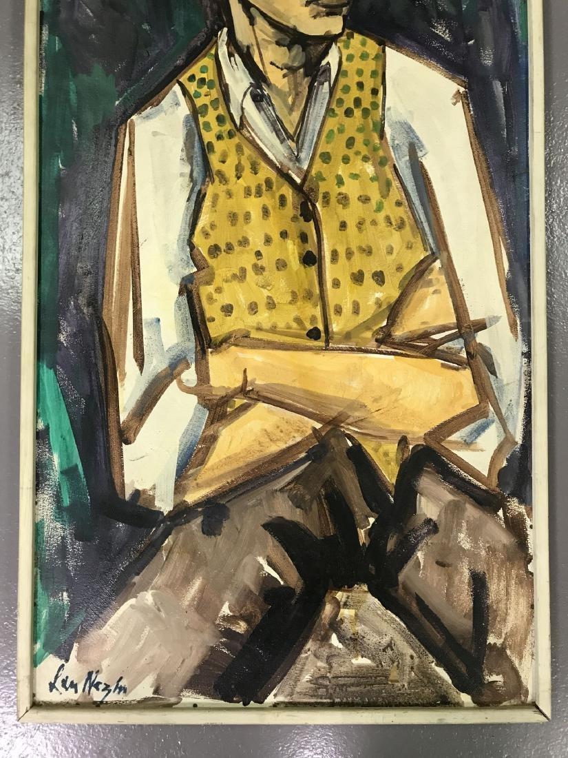 Len Nezin, Signed Oil on Board Painting - 3