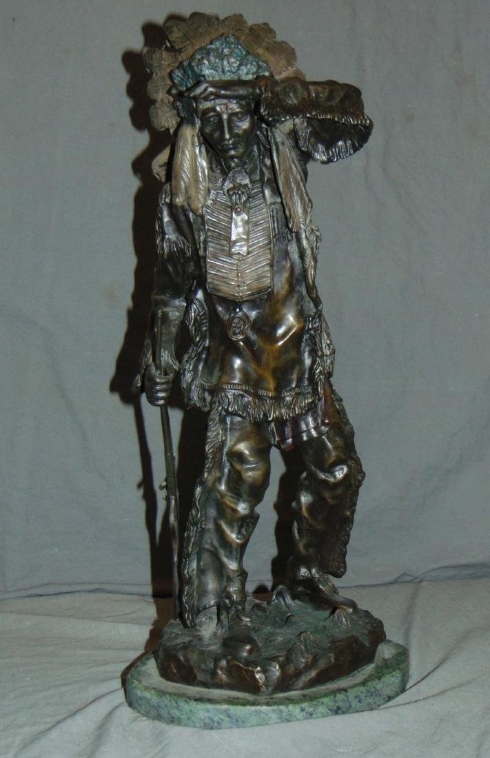After Carl Kauba, Chief White Clound Indian Bronze