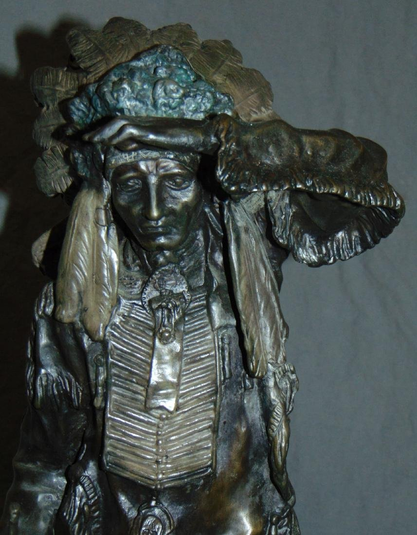 After Carl Kauba, Chief White Clound Indian Bronze - 2
