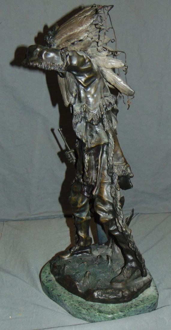 After Carl Kauba, Chief White Clound Indian Bronze - 6