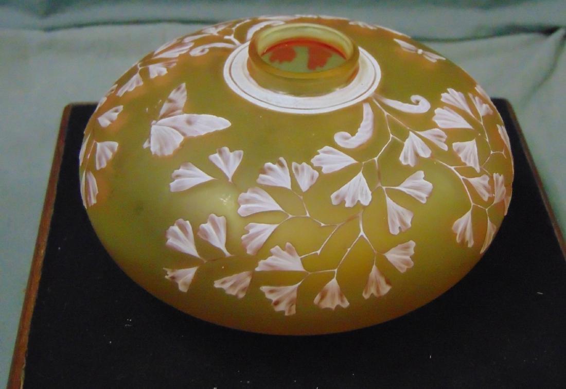 Thomas Webb Art Glass Cameo Bottle w/ Butterflies