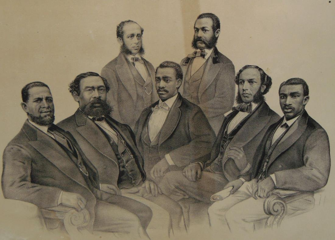Scarce, Currier & Ives First Colored Senators