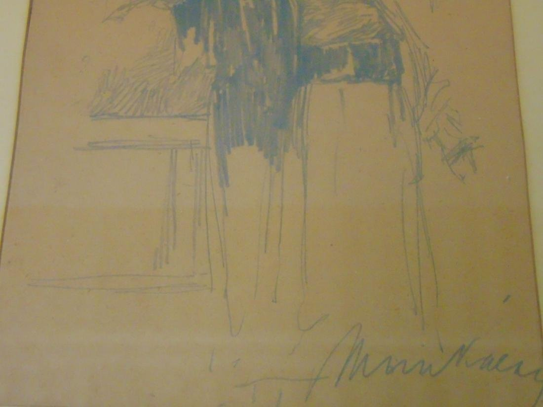Mihaly Munkacsy, Original Pencil on Paper - 3