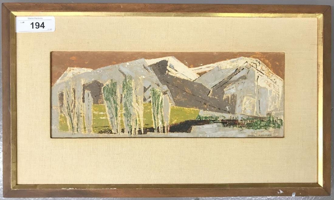 Ethel (Currie) Magafan (1916 - 1993) Oil on Board