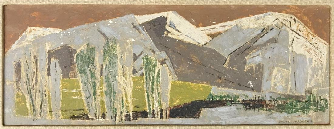 Ethel (Currie) Magafan (1916 - 1993) Oil on Board - 2