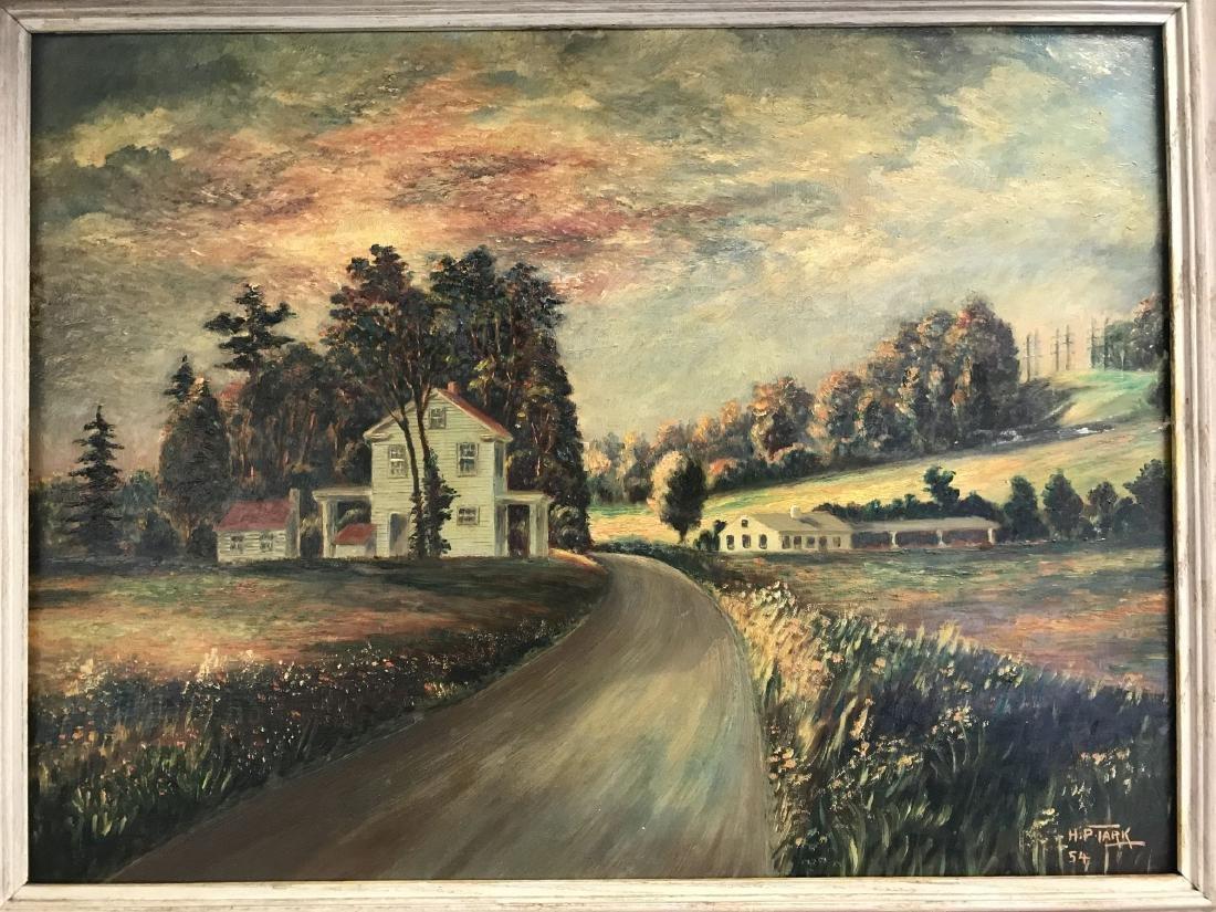 Oil on Board, Landscape, Signed H.P. Tark - 2