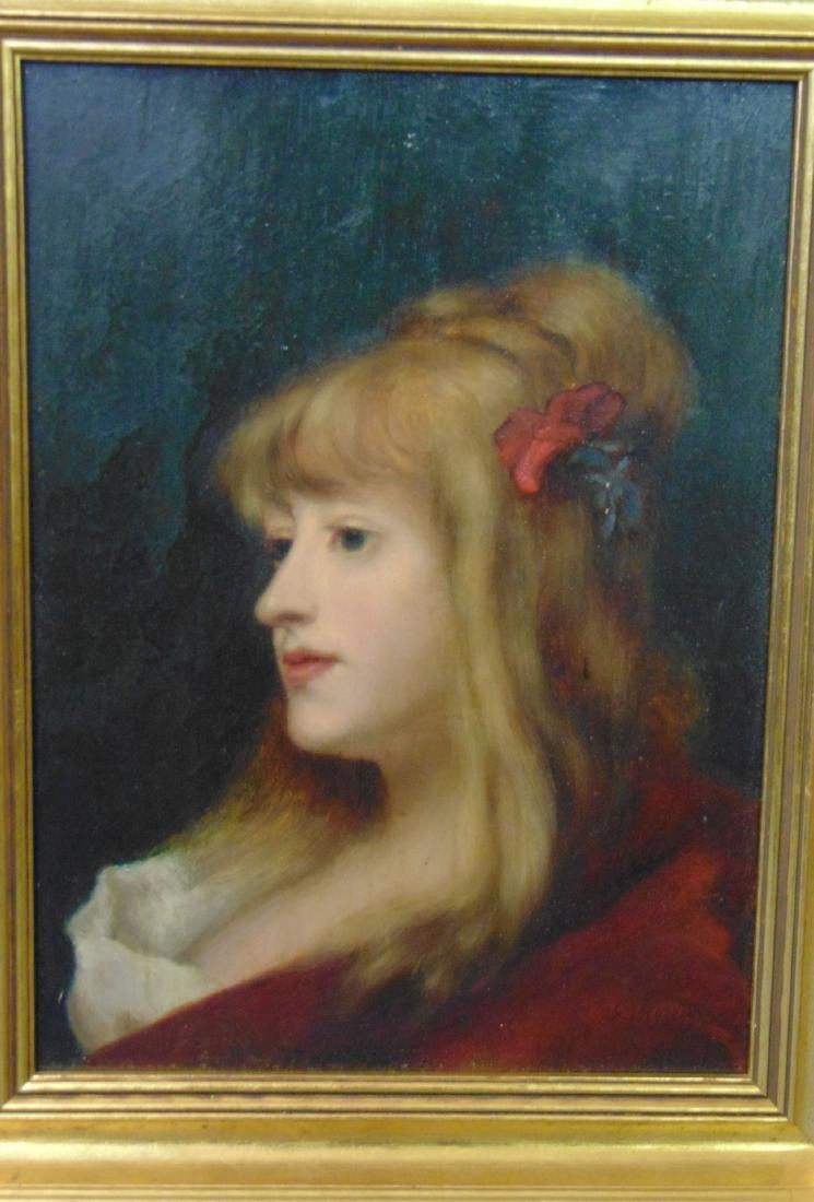 Oil on Board, Signed. G. Moreau, Portrait