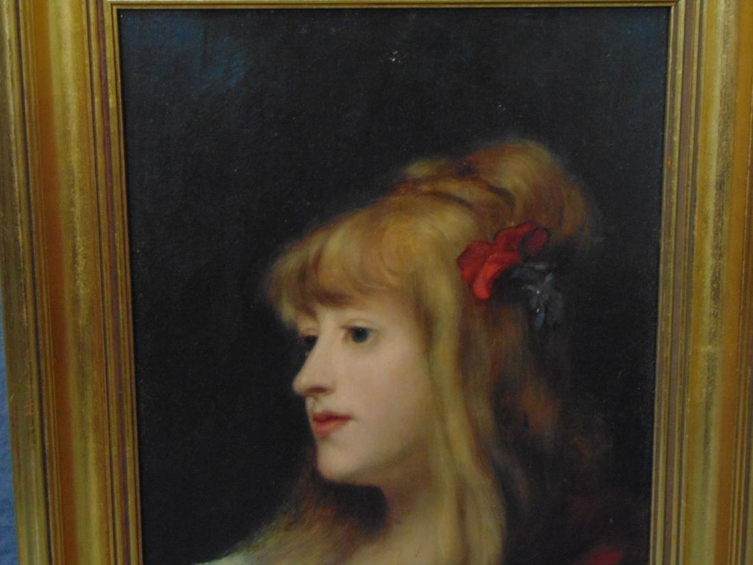 Oil on Board, Signed. G. Moreau, Portrait - 2