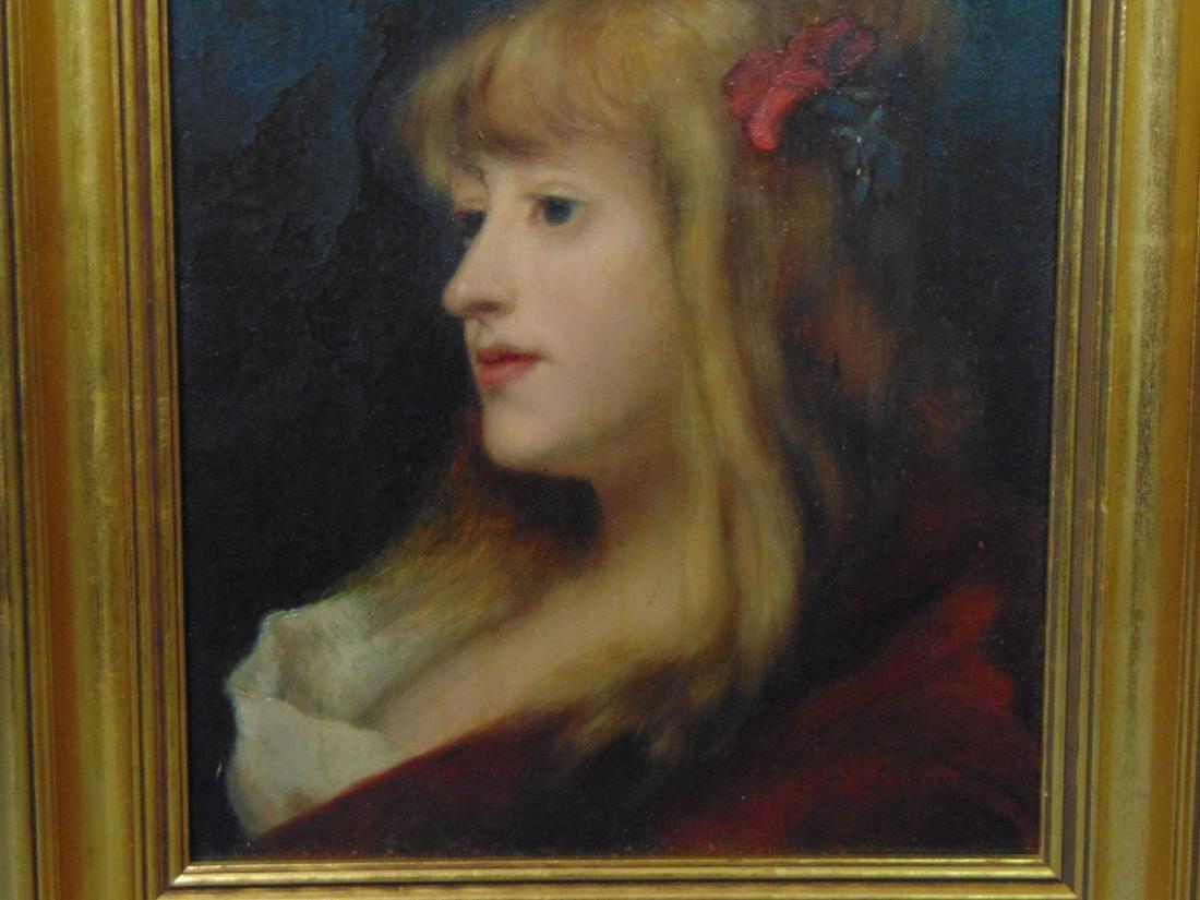 Oil on Board, Signed. G. Moreau, Portrait - 3