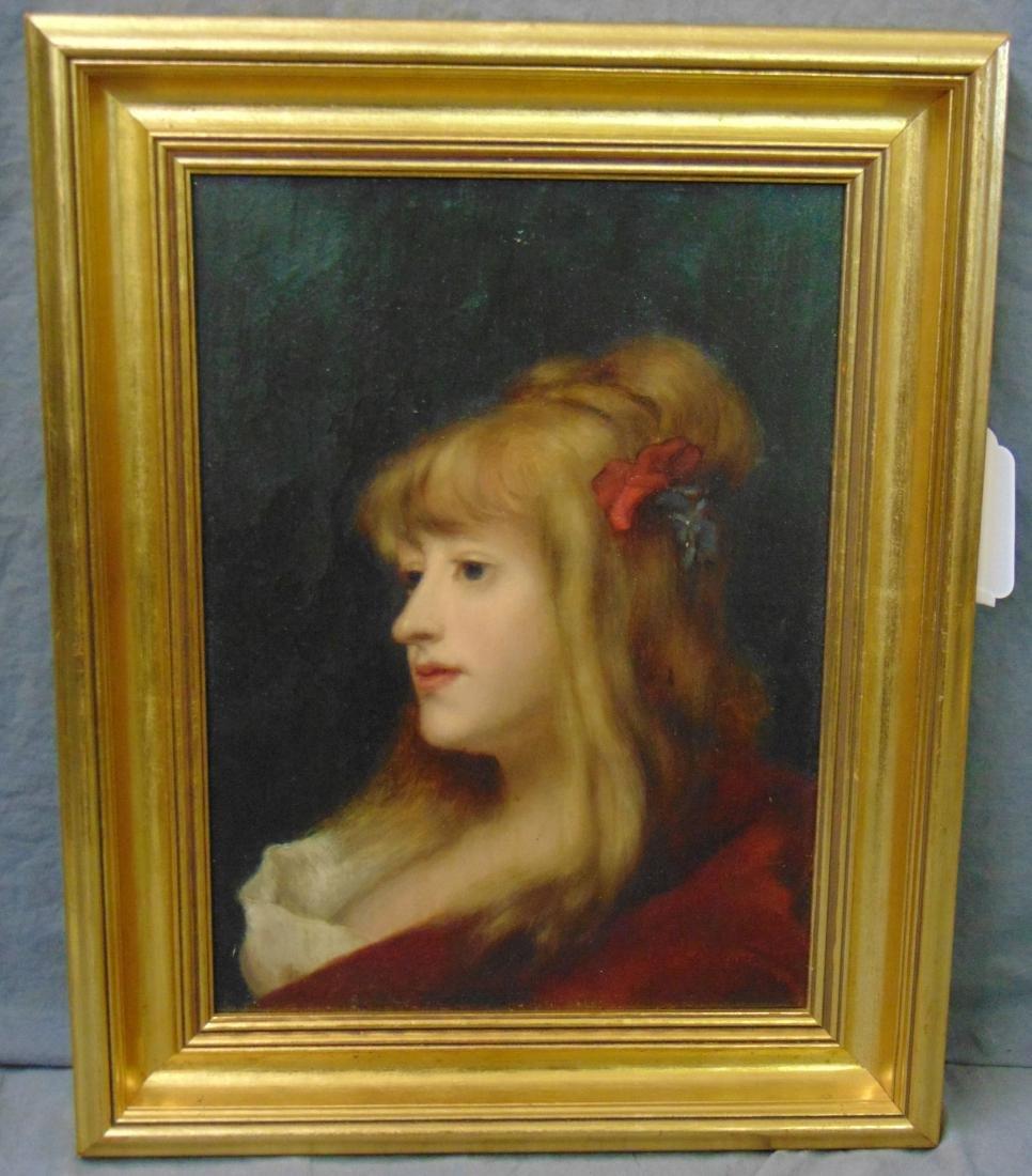 Oil on Board, Signed. G. Moreau, Portrait - 5