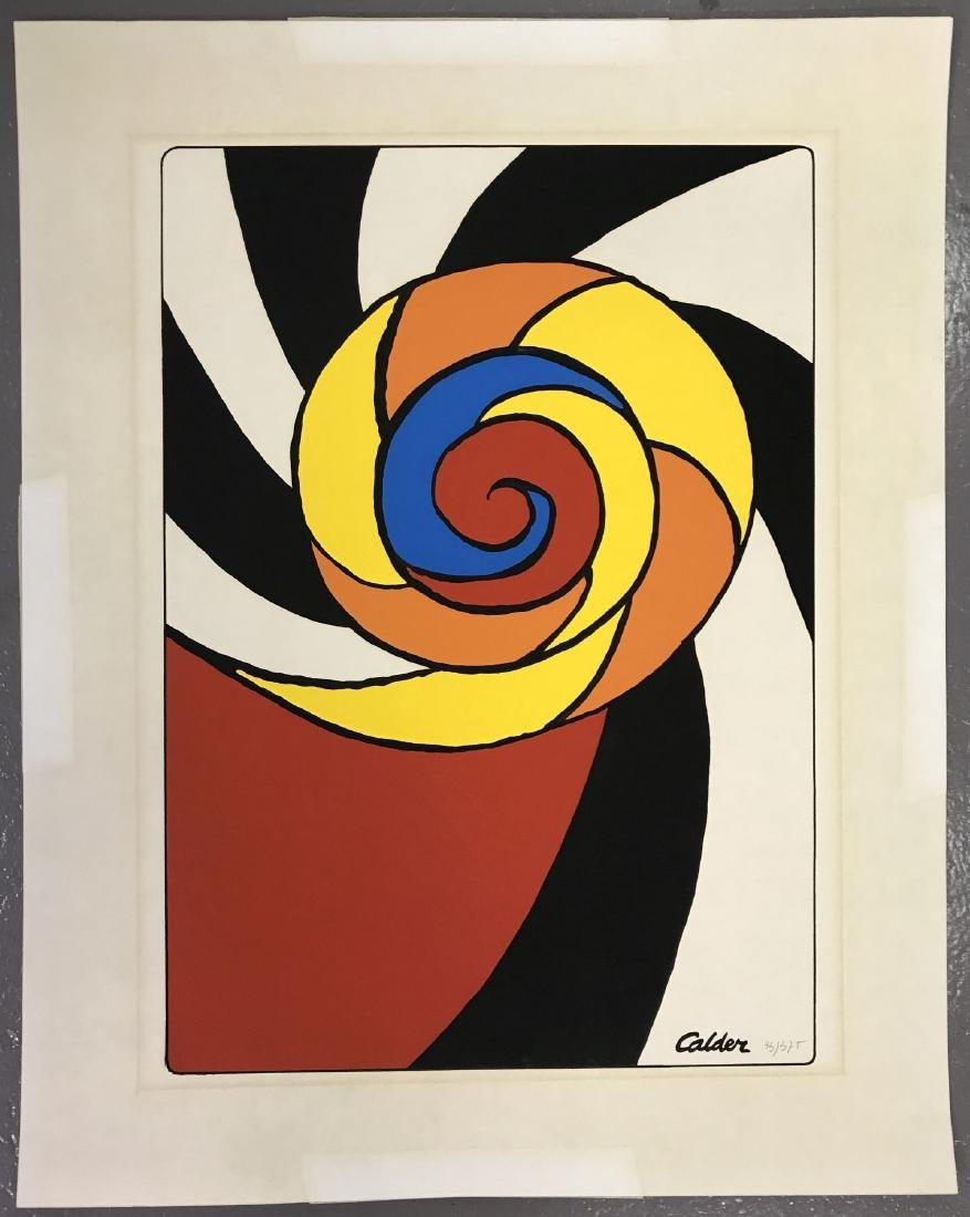 Alexander Calder, Limited Ed Spirals Print