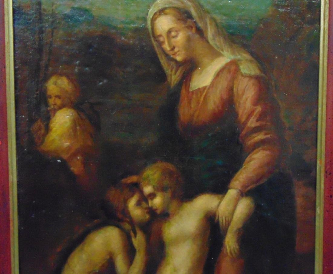 Oil on Canvas. Old Master. Mother and Child. - 3