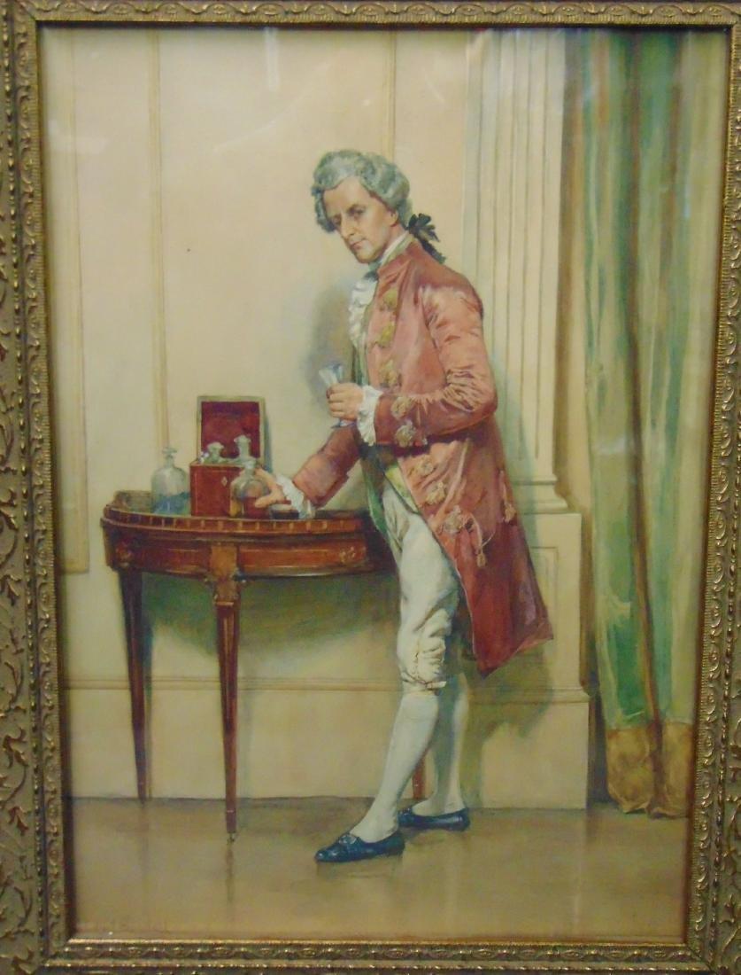 John Edward Goodall (1853 - 1929) Watercolor.