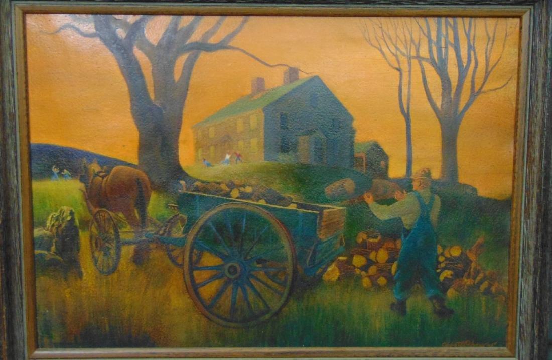 Abbott Cheever (20th century) Oil on Canvas.