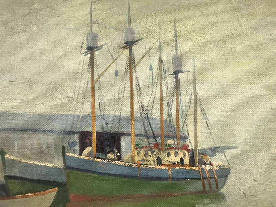 Abraham Rosenthal, Oil on Board, Fishing Boats - 3