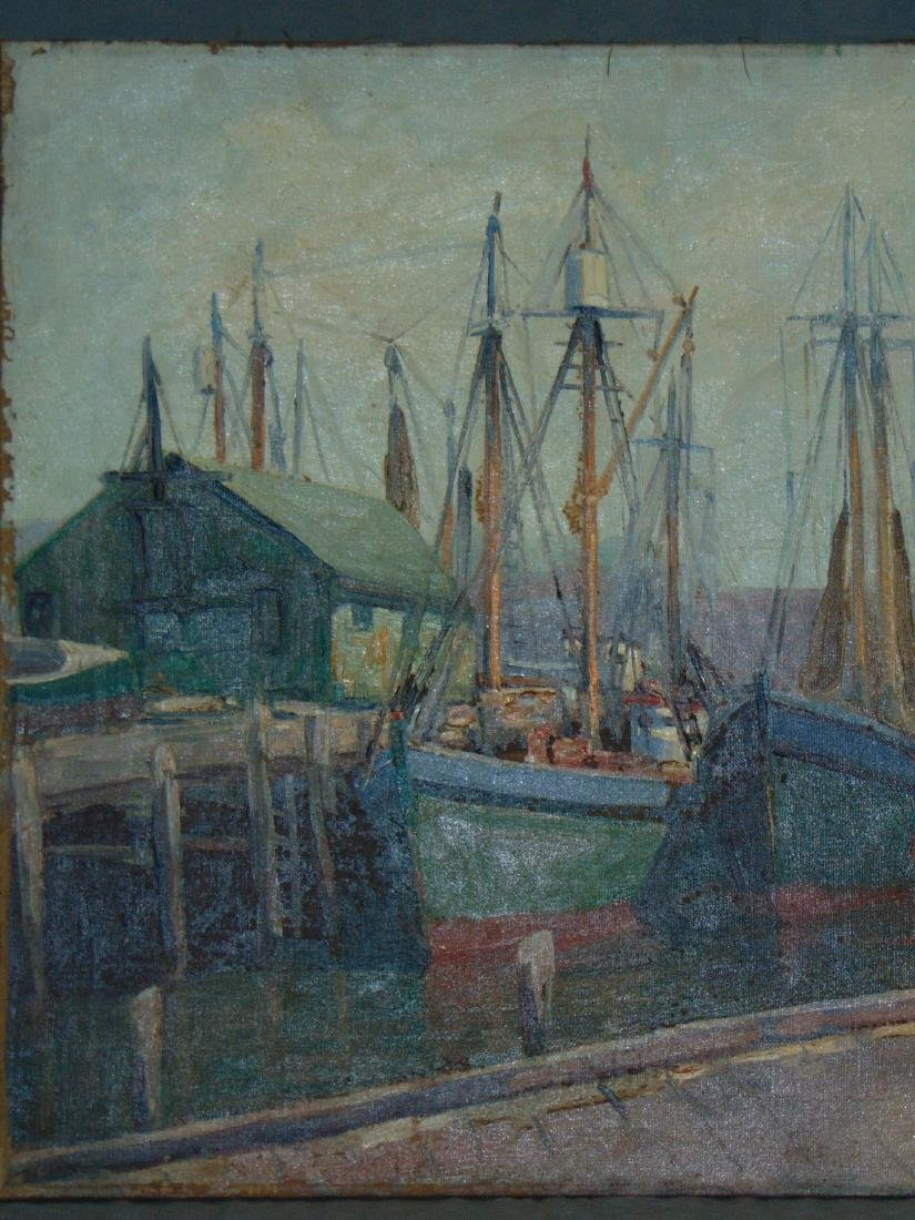 Abraham Rosenthal, Oil on Canvas, Fishing Boats - 2