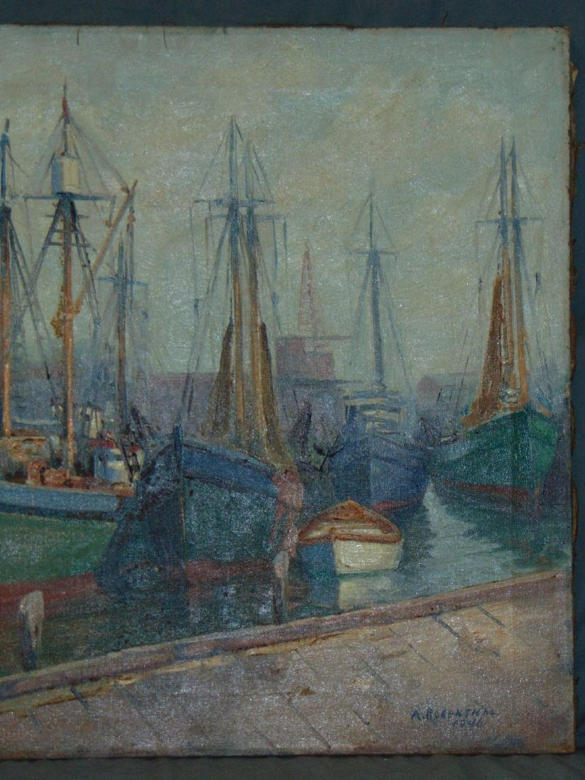 Abraham Rosenthal, Oil on Canvas, Fishing Boats - 3