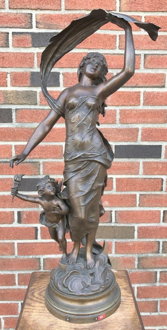 """After Auguste Moreau, """"Crepuscule"""" Bronze"""
