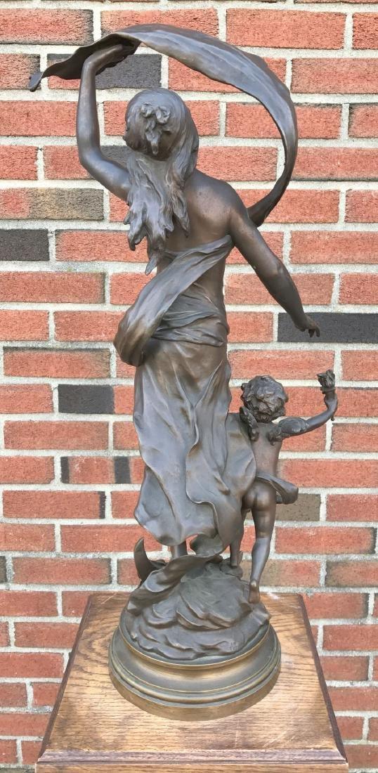 """After Auguste Moreau, """"Crepuscule"""" Bronze - 5"""