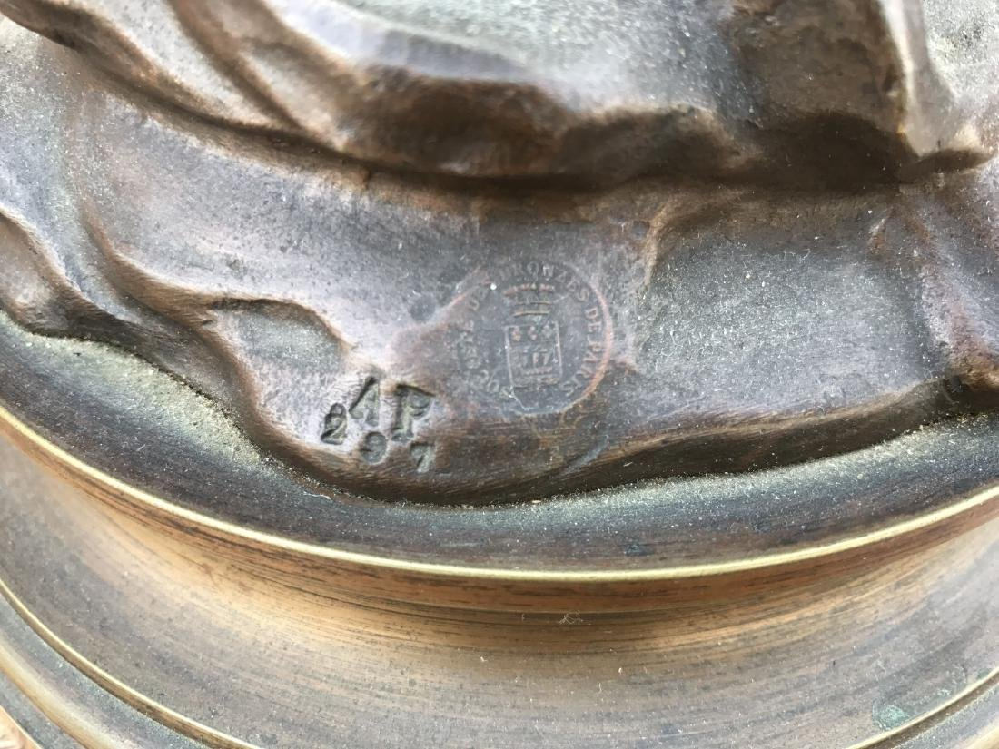 """After Auguste Moreau, """"Crepuscule"""" Bronze - 9"""