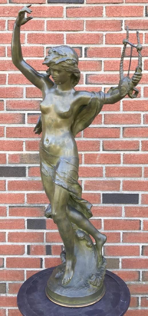 """Mathurin Moreau, """"Danseuse a La Lyre"""" Bronze"""
