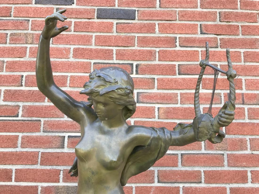 """Mathurin Moreau, """"Danseuse a La Lyre"""" Bronze - 2"""