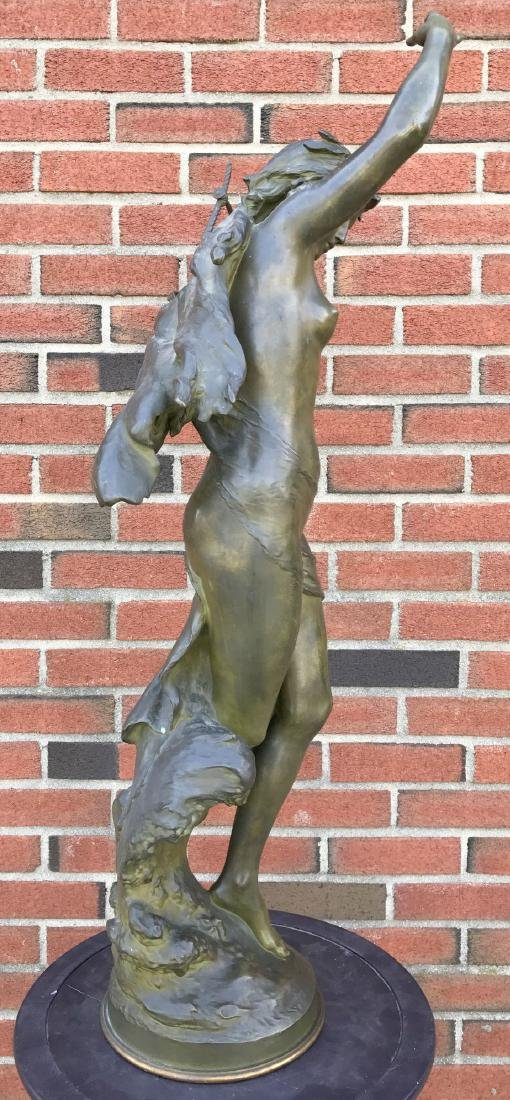 """Mathurin Moreau, """"Danseuse a La Lyre"""" Bronze - 6"""