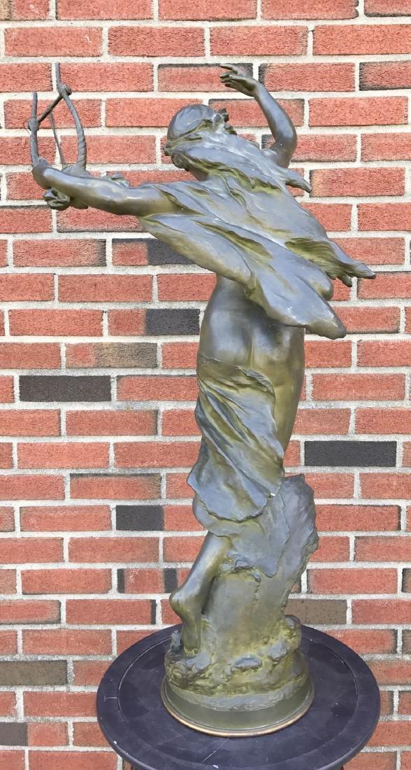 """Mathurin Moreau, """"Danseuse a La Lyre"""" Bronze - 7"""