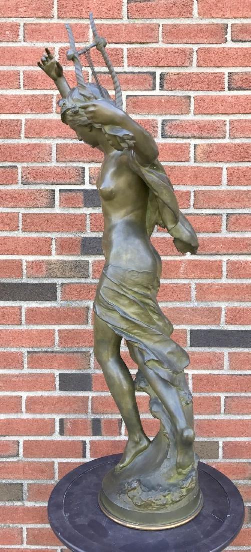 """Mathurin Moreau, """"Danseuse a La Lyre"""" Bronze - 8"""
