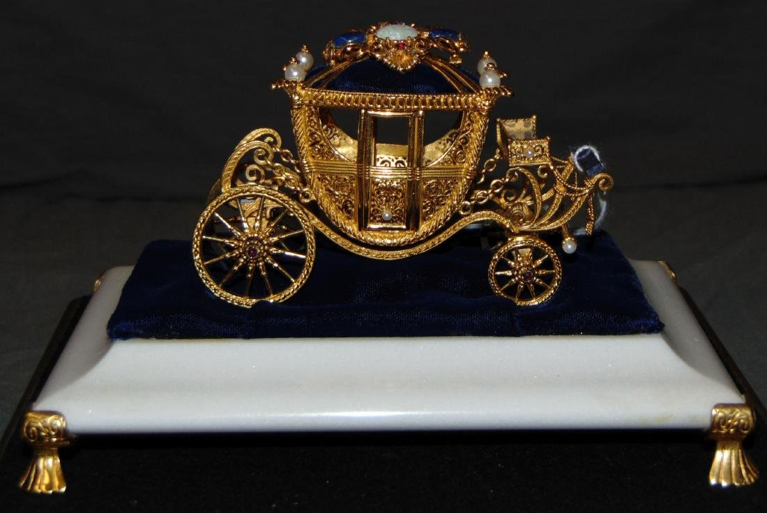 Igor Carl Faberge Sterling Coach with 18K Brooch
