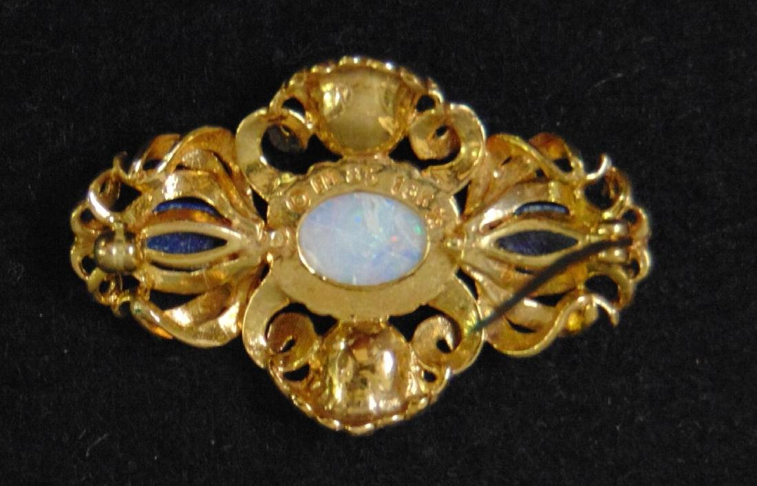 Igor Carl Faberge Sterling Coach with 18K Brooch - 7
