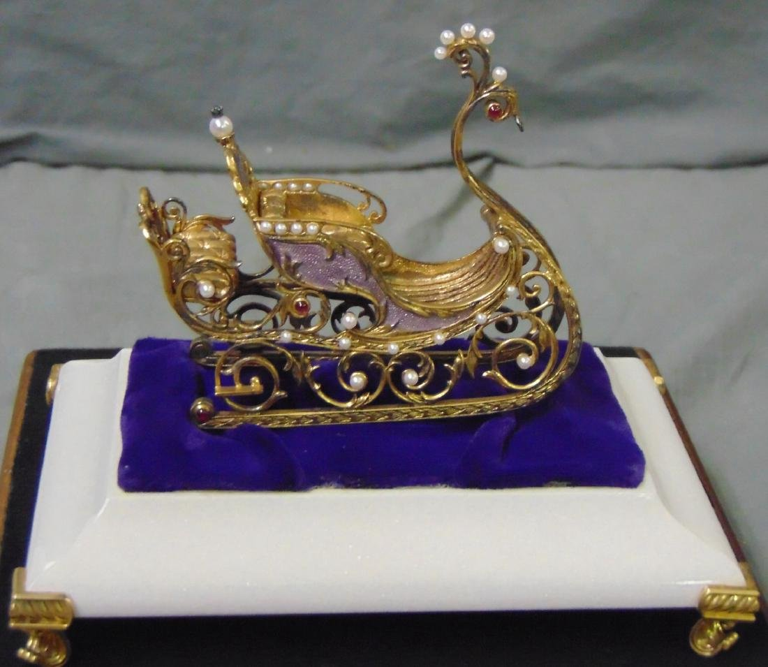 House of Faberge Imperial Jeweled Sleigh - 2