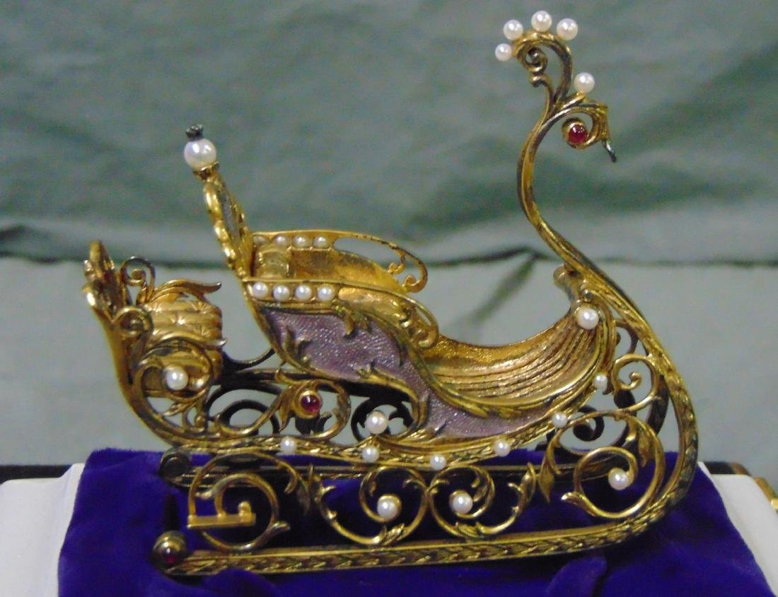 House of Faberge Imperial Jeweled Sleigh - 3