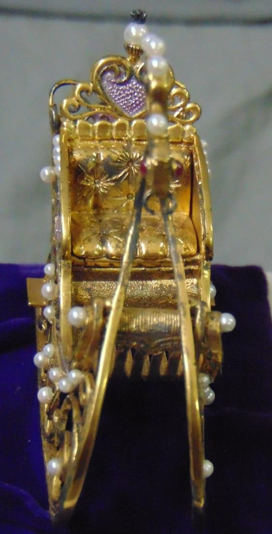 House of Faberge Imperial Jeweled Sleigh - 4