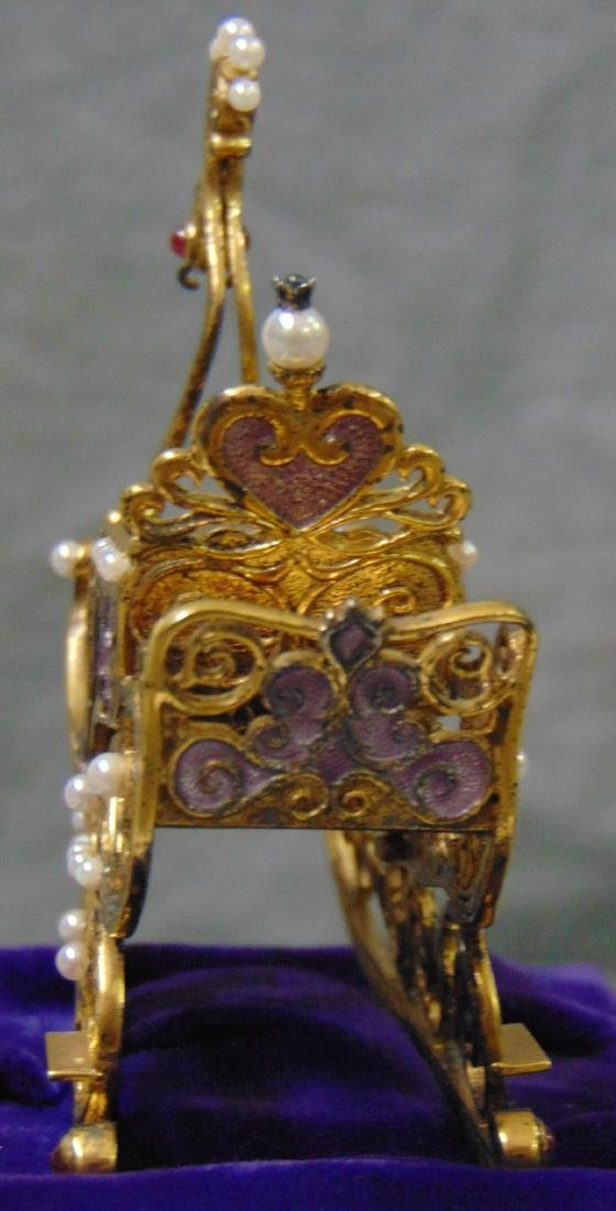 House of Faberge Imperial Jeweled Sleigh - 5