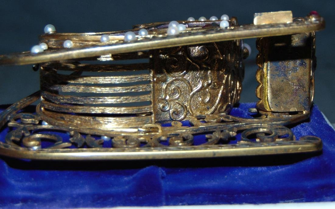 House of Faberge Imperial Jeweled Sleigh - 6
