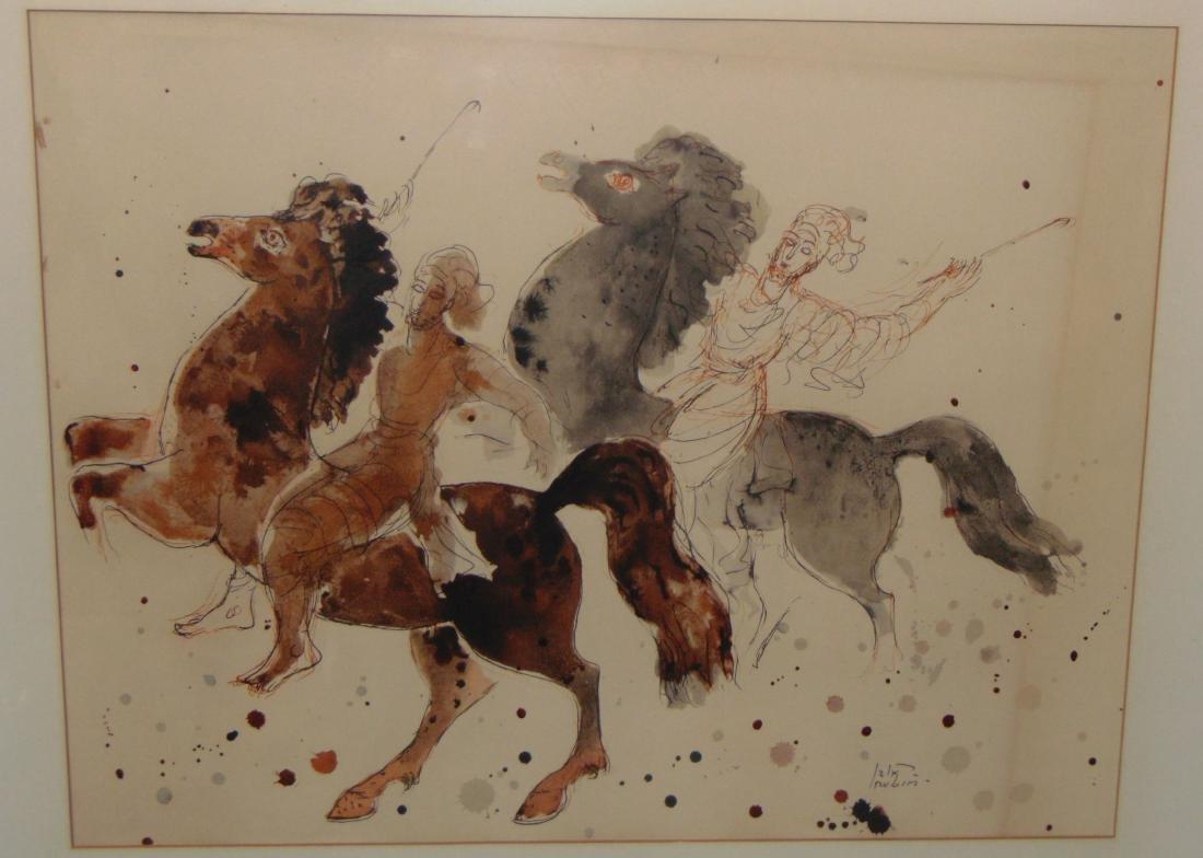 Reuven Rubin Print, Men on Horseback - 2