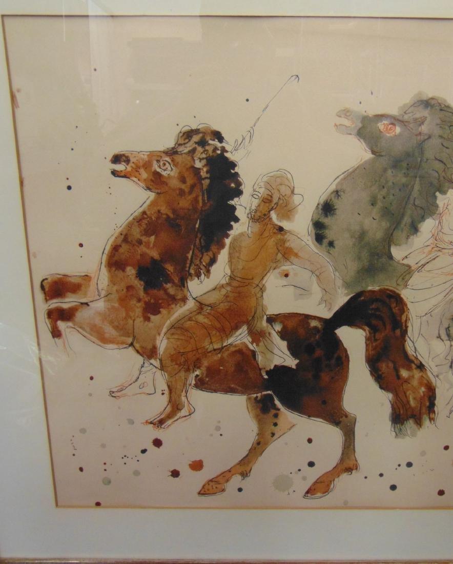 Reuven Rubin Print, Men on Horseback - 3
