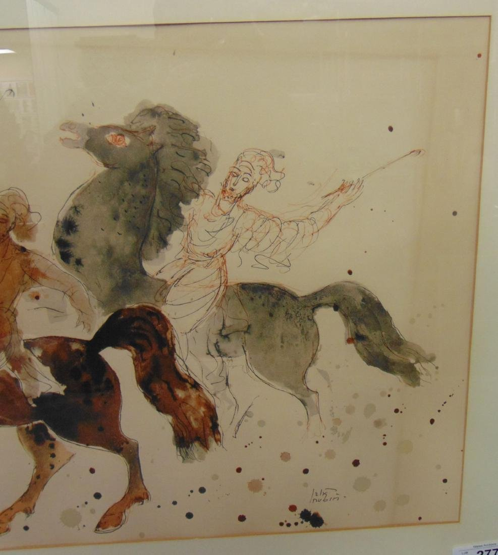 Reuven Rubin Print, Men on Horseback - 4