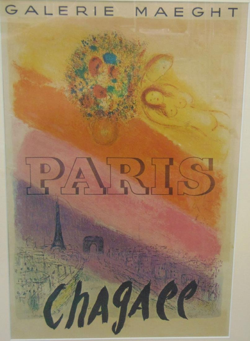 Marc Chagall, Paris, Les Champs Elysees, Poster