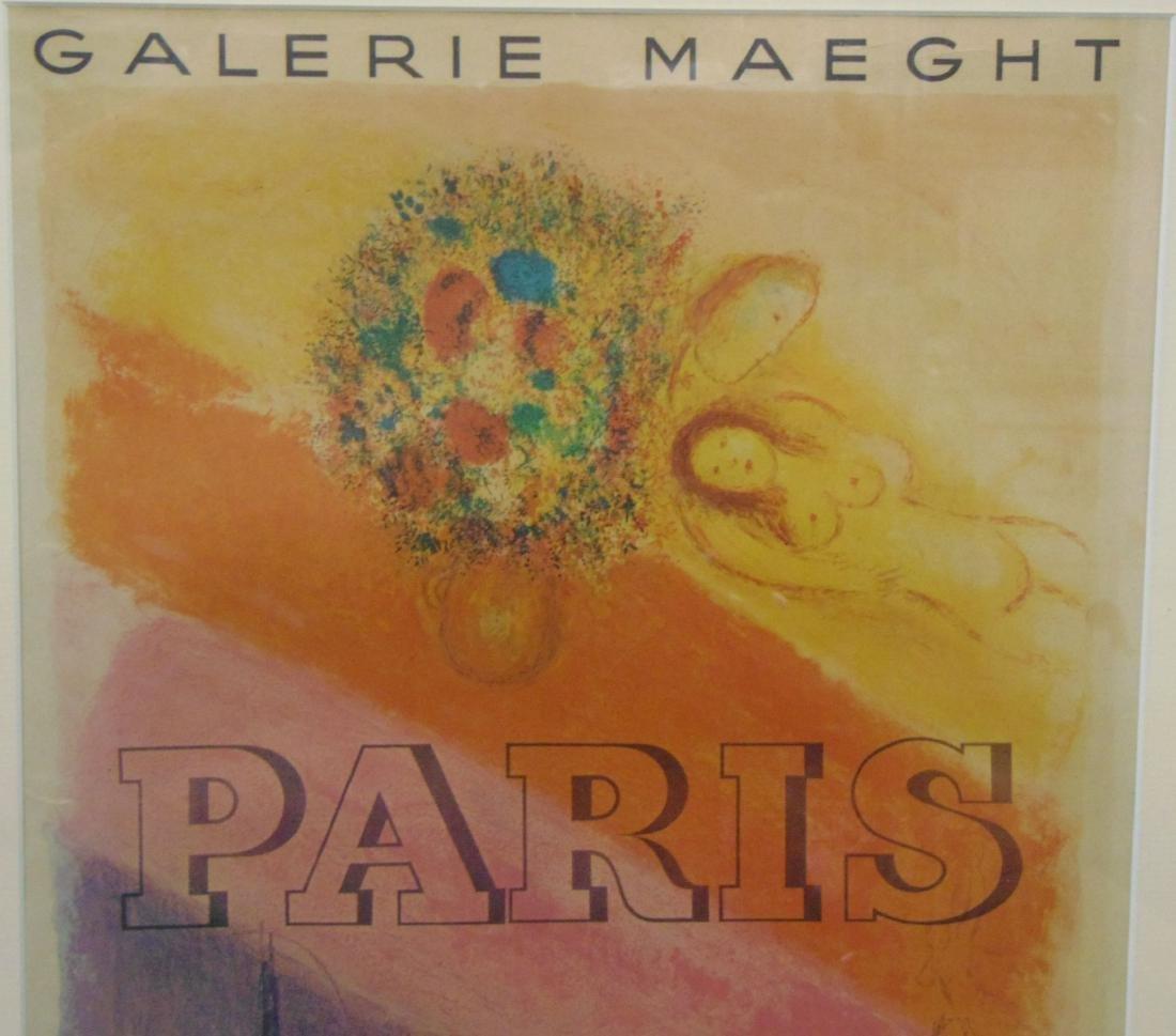 Marc Chagall, Paris, Les Champs Elysees, Poster - 2