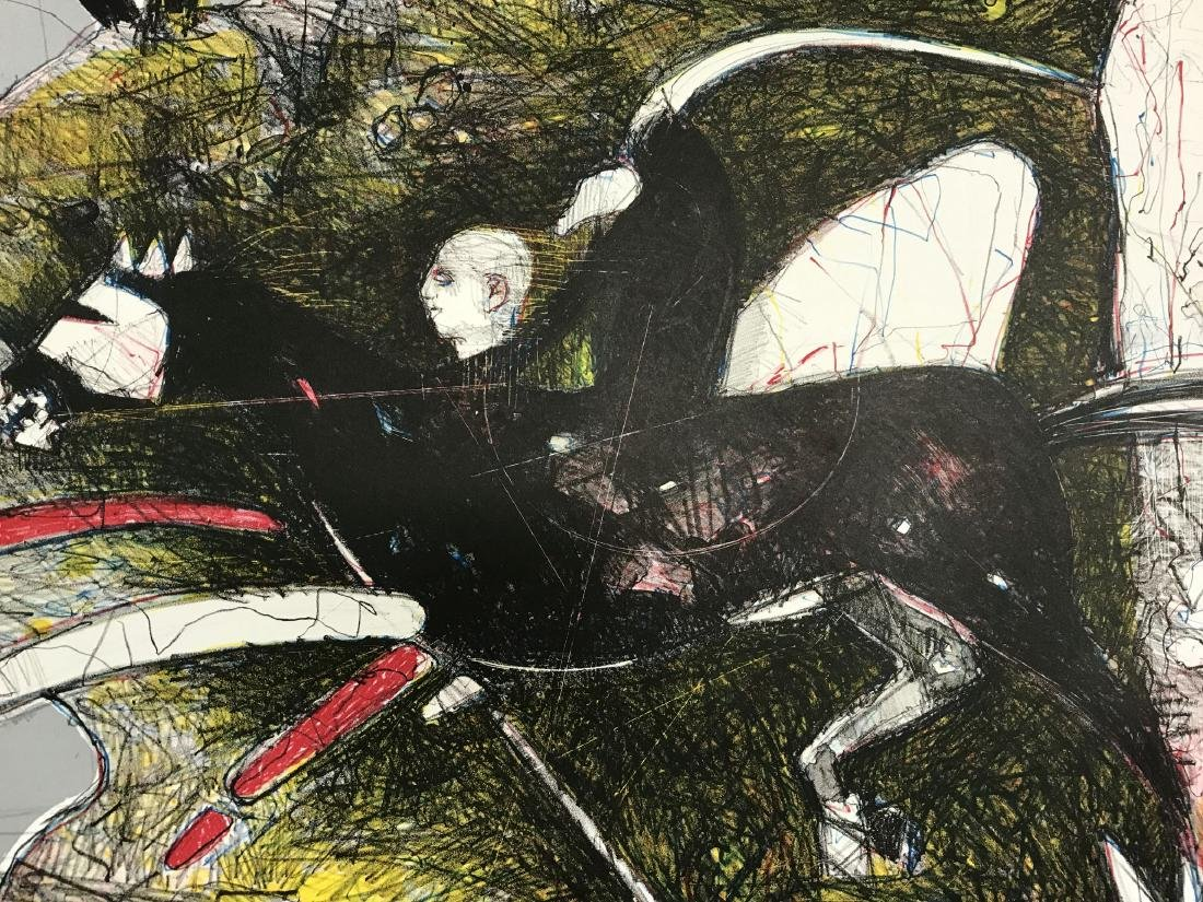 "James G. Davis, Signed Litho ""Headless Horseman"" - 2"