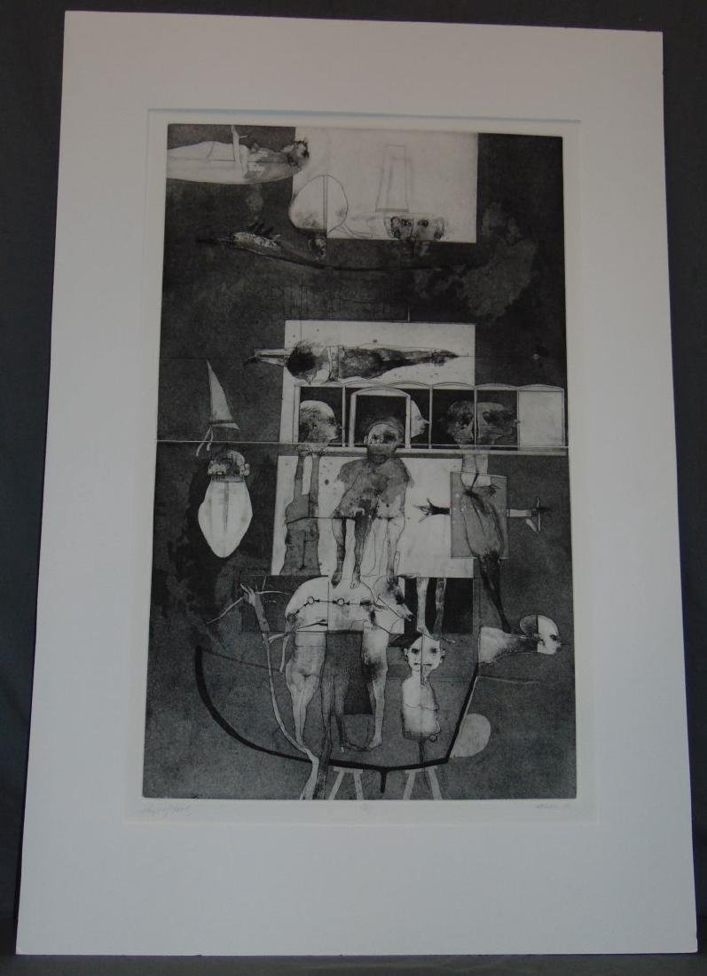 Robert Marx, Abstract Intaglio, Signed Ltd Ed
