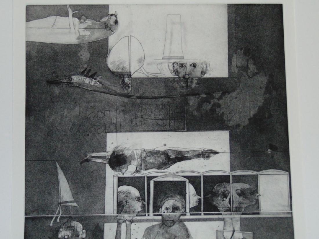 Robert Marx, Abstract Intaglio, Signed Ltd Ed - 2