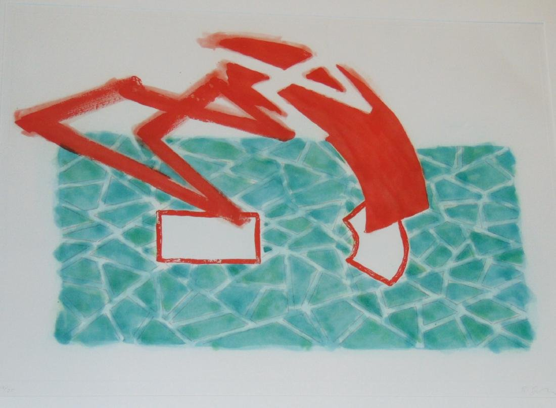 "Richard Smith, Etching Aquatint, ""Wild Life"""