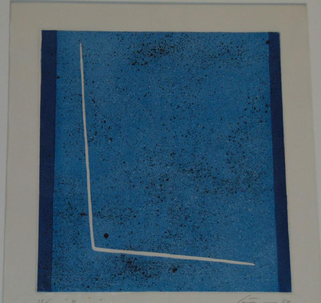 Giuseppe Santomaso, Signed Etching with Embossing