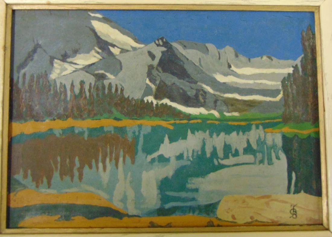 Oscar Bluemner (1867-1938), Attributed Oil/Board