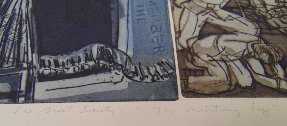 Warrington Colescott, Signed Colored Etching - 4
